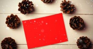 Составное изображение падать снега Стоковые Изображения RF