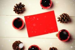 Составное изображение падать снега Стоковое Фото