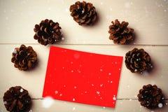 Составное изображение падать снега Стоковое Изображение RF