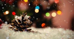 Составное изображение падать снега Стоковые Фотографии RF