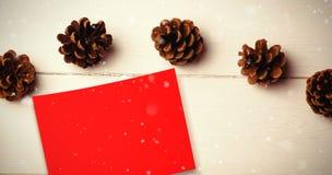 Составное изображение падать снега Стоковое фото RF