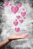 Составное изображение показа руки Стоковое Изображение RF