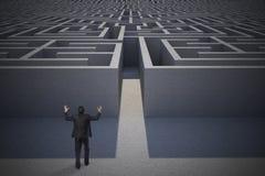 Составное изображение показывать бизнесмен Стоковые Фотографии RF