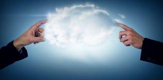 Составное изображение показывать руки бизнесмена Стоковое фото RF