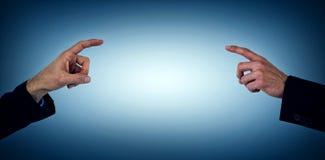 Составное изображение показывать руки бизнесмена Стоковое Изображение