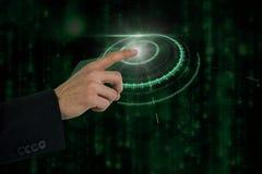 Составное изображение показывать руки бизнесмена Стоковая Фотография