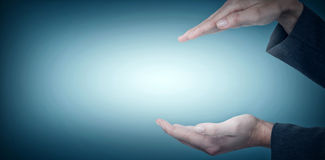 Составное изображение показывать руки женщины Стоковая Фотография RF