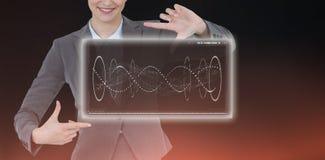 Составное изображение показывать руки коммерсантки Стоковые Фото