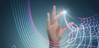 Составное изображение показывать руки Стоковое Фото
