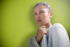 Составное изображение портрета красоты крупного плана молодой красивой женщины Стоковое фото RF