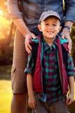 Составное изображение портрета отца с его молодым сыном Стоковое Изображение