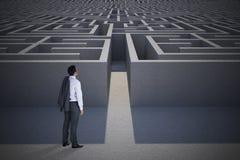 Составное изображение положения бизнесмена Стоковое Изображение RF