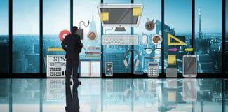 Составное изображение положения бизнесмена Стоковые Изображения RF
