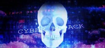 Составное изображение предпосылки вируса иллюстрация штока