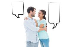 Составное изображение привлекательных молодых пар обнимая один другого Стоковое Изображение RF