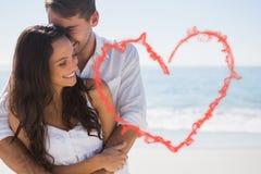 Составное изображение привлекательных пар прижимаясь Стоковые Изображения