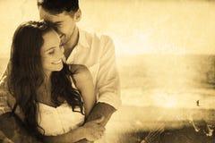 Составное изображение привлекательных пар прижимаясь Стоковое Изображение RF