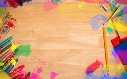 Составное изображение рамки поставки искусства Стоковые Фото