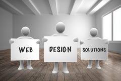 Составное изображение решений веб-дизайна Стоковые Фотографии RF