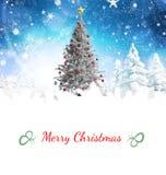 Составное изображение рождественской открытки Стоковые Фото
