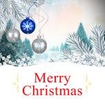Составное изображение рождественской открытки Стоковое Фото