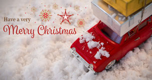 Составное изображение рождественской открытки Стоковые Изображения