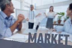 Составное изображение рынка стоковые изображения rf