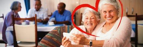 Составное изображение сердца стоковые изображения