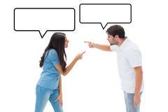 Составное изображение сердитых пар крича на одине другого Стоковые Фотографии RF
