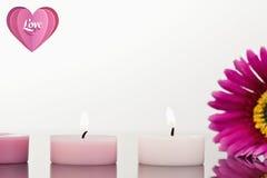 Составное изображение сердца влюбленности Стоковое Изображение RF