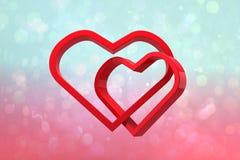 Составное изображение соединять сердца иллюстрация штока