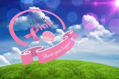Составное изображение сообщения осведомленности рака молочной железы Стоковая Фотография