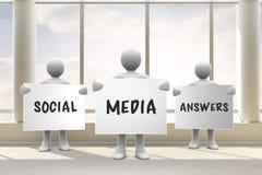 Составное изображение социальных ответов средств массовой информации Стоковые Изображения RF