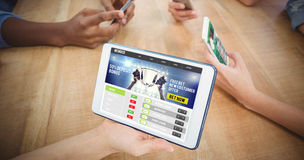 Составное изображение спорта app Стоковое Изображение