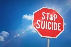 Составное изображение суицида стопа стоковая фотография rf