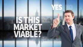 Составное изображение сфокусированного бизнесмена указывая с пальцем Стоковое Изображение