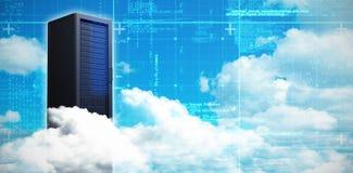 Составное изображение сценарного взгляда белых пушистых облаков 3D Стоковое фото RF