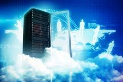 Составное изображение сценарного взгляда белых пушистых облаков 3D бесплатная иллюстрация