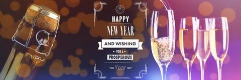 Составное изображение счастливого сообщения Нового Года Стоковая Фотография RF