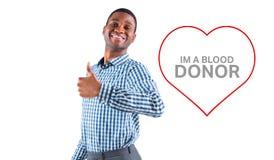 Составное изображение счастливого бизнесмена усмехаясь на камере Стоковые Фотографии RF