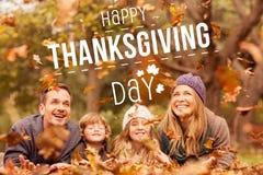 Составное изображение счастливого благодарения Стоковое Фото