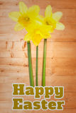 Составное изображение счастливой пасхи Стоковое Фото