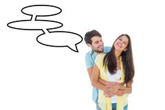 Составное изображение счастливых вскользь пар усмехаясь и обнимая Стоковые Изображения