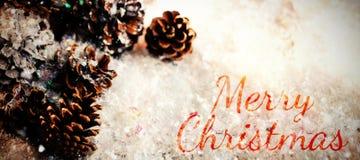 Составное изображение с Рождеством Христовым Стоковые Изображения RF
