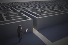 Составное изображение усиленный показывать бизнесмена Стоковые Фотографии RF