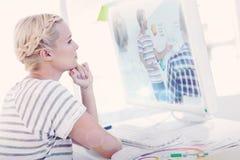 Составное изображение усмехаясь молодого дизайнера стоковые изображения