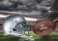 Составное изображение футбола футбола в 3d Стоковое Фото