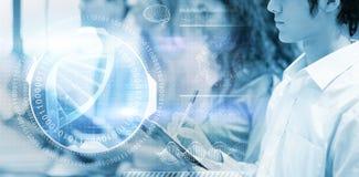 Составное изображение цифрового изображения винтовой линии дна с номерами Стоковые Изображения RF