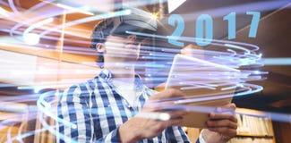 Составное изображение цифрового изображения Нового Года 2017 Стоковая Фотография
