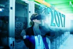 Составное изображение цифрового изображения Нового Года 2017 Стоковое Изображение RF